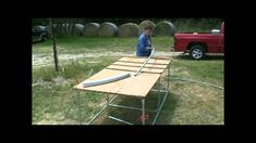 How to build a 20 foot wide Hoop House / Greenhouse Metal Bending, Picnic Table, Hoop, The Creator, Gardening, Make It Yourself, Building, Youtube, Lawn And Garden