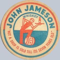 Jameson Whiskey coaster