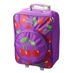 D and N Kids Girls Cherry Wheeled Rolling Zipper Front Suitcase  - Click image twice - See a larger selection of little girls backpacks at http://kidsbackpackstore.com/product-category/little-girls-backpack/ - kids, juniors, back to school, kids fashion ideas, school supplies, backpack, bag , teenagers, girls, boys, gift ideas