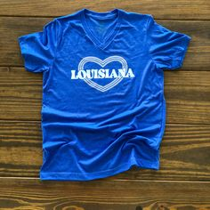 Our Lots of Louisiana Love  t-shirt encompasses the love for our great state. Louisiana has countless features that make it unique. One thing that makes Sweet Baton Rouge unique is our love for our state and making t-shirts that represent it.