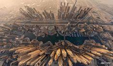 Dubai Marina from the sky Dubai City, Dubai Uae, Tour Around The World, Around The Worlds, 360 Virtual Tour, City Sky, Belle Villa, World Cities, Most Beautiful Cities
