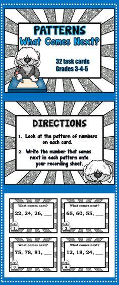 Number Patterns {Grades 2-3} | Pinterest | Number, Patterns and Math