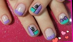 Nails Gorgeous Nails, Love Nails, Pretty Nails, Fun Nails, Cute Nail Art, Easy Nail Art, Fingernails Painted, Magic Nails, Toe Nail Designs