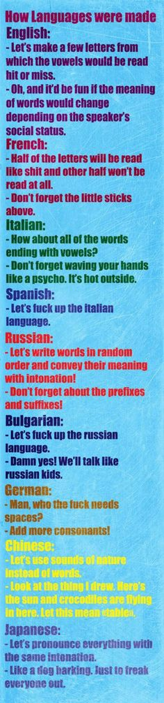 How languages were created… - #Funny #Pic - Funny Pic, funny pics, Random Funny Meme