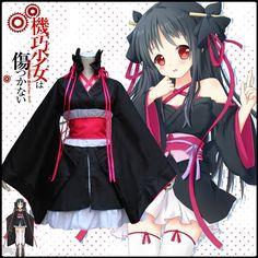Cheap anime cosplay costumes, Buy Quality cosplay costume directly from China halloween costume Suppliers: Free PP Machine-Doll wa Kizutsukanai Japan anime cosplay costume maid lolita fancy dress kimono halloween costumes