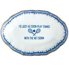 """Mottahedeh """"I'd Just As Soon Play Tennis""""  Tray"""