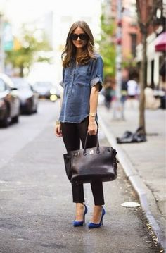 olivia palermo chic street style    Cabi - ize this look with the Mcqueen shirt  and the stevie leggings hermes bags d55c8464a79