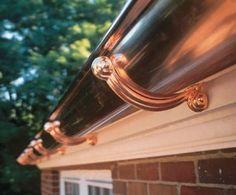 Copper Gutter    Photo: Commercial Gutter Systems