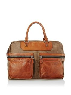 A. Toy Jeremy Zip Tail Weekender, Vintage Sand Fabric, One Size at MYHABIT
