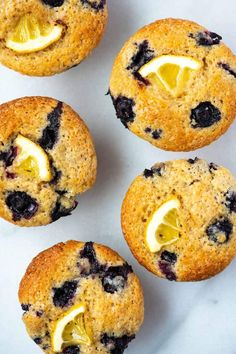 These lemon blueberry muffins are quick to make with a moist and tender center bursting with blueberries and perfectly golden brown top. Blueberry Oatmeal Muffins, Lemon Muffins, Baking Muffins, Blue Berry Muffins, Baking Breads, Roasted Beets And Carrots, Roasted Sweet Potatoes, Pecan Recipes, Blueberry Recipes