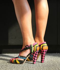 Colorful woven sandals   Prada