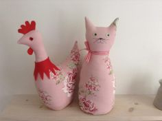 New pink floral fabric doorstops sold separately @ £12.50 each