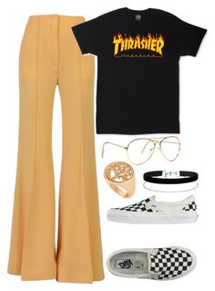 """TINA WOODS INSPO !!"" by kristinacason ❤ liked on Polyvore featuring CÉLINE, Vans, Miss Selfridge and Allurez"