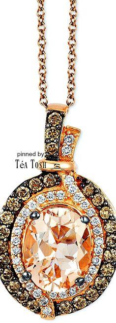 ❇︎Téa Tosh❇︎Le Vian, Peach Morganite®, Chocolate & Vanilla Diamonds®, set in…
