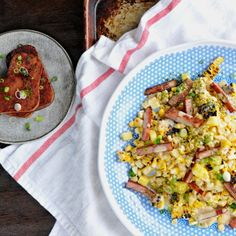 Grilled Hawaiian Street Corn with SPAM + Pineapple - sweet, salty, summery in 15 minutes. gluten-free.