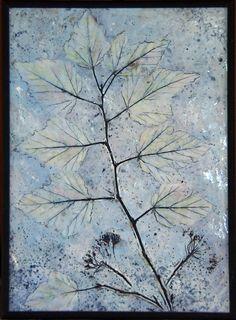 Silver Dogwood - encaustic on panel