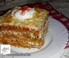 Érdekel a receptje? Kattints a képre! Slovak Recipes, Hungarian Recipes, Meat Recipes, Cooking Recipes, Quiche Muffins, Vegetable Casserole, Good Food, Yummy Food, Tasty Dishes