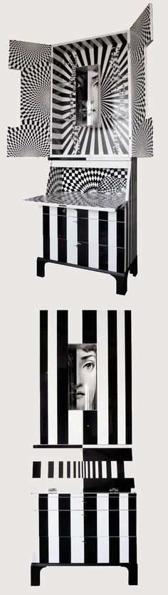 Fornasetti - Bar ( furniture art / black white / cool decore / stylish ideas  )