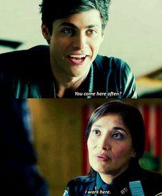 Alec has flirting skills