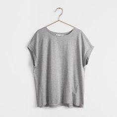 T-shirt gris coton - Femme - VÊTEMENTS & CHAUSSURES   Zara Home France