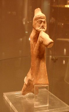 Terracotta figurine of a horseman | Northern Syria,4th cent,BCE