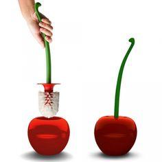 DESIGNDELICATESSEN - Qualy - Cherry toiletbrush from Design Delicatessen #omgoodness #mama
