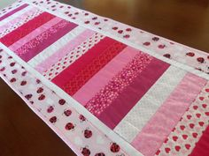 Valentine's Day Quilted Ladybug Table by homesewnbychristine