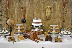 Do you want to show off your DIY skills with a safari baby shower? If you are looking for a fun and creative baby shower theme, a safari-inspired theme will fit… Adult Safari Party, Safari Theme Party, Jungle Party, Safari Wedding, Jungle Theme, Baby Shower Backdrop, Baby Shower Themes, Baby Shower Decorations, Shower Ideas