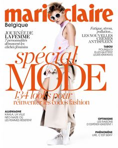Marie Claire Belgium Cover March 2015 - Marine Van Outryve by Hicham Riad