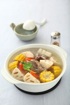lotus root corn soup | Taiwanese cuisine #recipe in Chinese