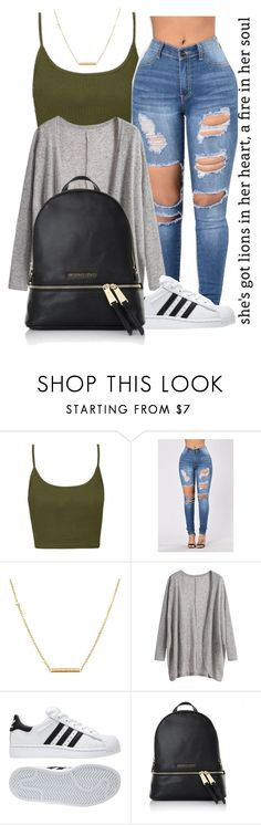 """""""Casual"""" by jaziscomplex ❤ liked on Polyvore featuring Topshop, Dutch Basics, adidas and Michael Kors"""