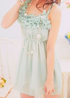 seafoam green dress