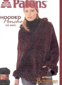 Free knitting poncho pattern. Free poncho knitting pattern 99000600110.