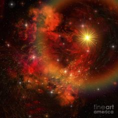 A Star Explodes Sending Out Shock Waves by Corey Ford