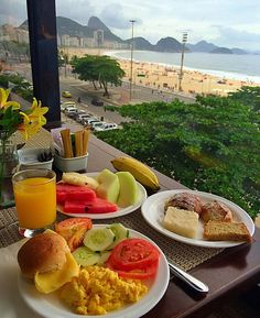 """""""Bom Dia ❤️ Breakfast with view over Copacabana and Sugar Loaf Mountain Brazil Hotel: Rio Othon Palace"""""""