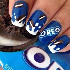 Oreo nails nails ❤ liked on Polyvore featuring beauty products, nail care, nail treatments, nails, beauty, makeup, nail polish and unhas
