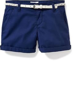 Belted Chino Shorts for Girls