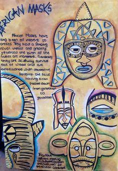 African masks project at Harrop Fold