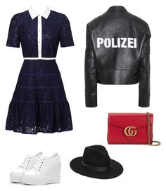 """#73"" by cecilie-monica-nrskov-pedersen on Polyvore featuring Draper James, Vetements, Gucci and Lack of Color"