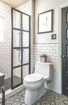 Who doesn't want to have stunning design of the master bathroom? The stunning design can be done not only in a spacious master bathroom but also in a small bathroom. You don't… Continue Reading → Small Bathroom With Shower, Tiny House Bathroom, Modern Bathroom, Master Bathroom, Bathroom Ideas, White Bathrooms, Bathroom Remodeling, Basement Bathroom, Bathroom Designs
