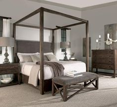 Nightstand and chest.  West Canopy collection.