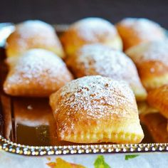 Beignets - light and airy pillows coated in powdered sugar. A New Orleans classic.