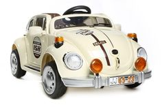 Cream Beetle - 12V Kids Electric Ride On Car