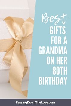 Finding the perfect birthday gift for her just got a little easier. These great ideas for an birthday present helped me choose the best gift for Grandma! Birthday Presents For Grandma, Great Grandma Gifts, Special Birthday Gifts, Grandmother Gifts, Birthday Gifts For Her, Grandma Birthday, Grandmothers, Birthday Ideas