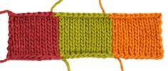 Cómo tejer con varios colores de lana o hilo.