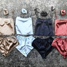 e4109751e1c6 tank top gold shorts shorts set two-piece silk matching set pajamas ...