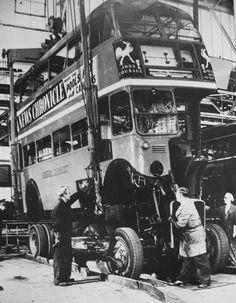 London transport RT4275 at Aldenham works 1950's. | by Ledlon89