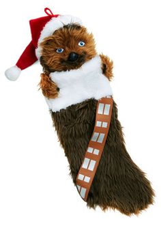 Wookiee What You Got Christmas Stocking It's beginning to 'Wook' a lot like holiday cheer with this fuzzy stocking on your hearth! Your favorite gift-giving season meets your favorite Star Wars character, Chewbacca, in one amazing accessory.