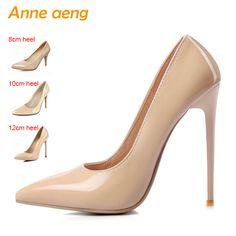 1ec183f950 Women shoes 8cm 10cm 12cm High Heel Women Pumps Sexy Office Lady Shoes  Pointed Toe Classic