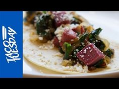 Taco Tuesday with Rick Bayless: Tongue Tacos with Greens and Caramelized...